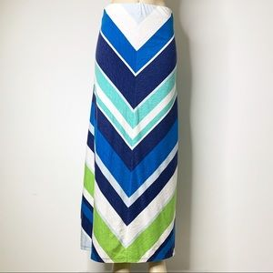 TOMMY BAHAMA Chevron Striped Maxi Skirt Size Small